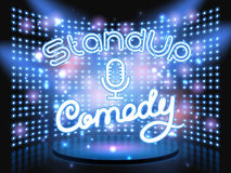 Stand up comedy light wall Stock Photography
