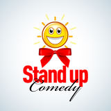 Stand up comedy logo, badge, emblem. Vector format. Stock Photo