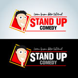 Stand up comedy logos, badges, emblems. Vector format. Royalty Free Stock Images