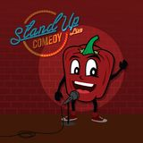 Stand up comedy open mic bell pepper. Vector art illustration Royalty Free Stock Images