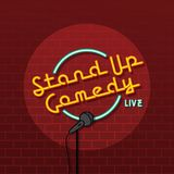 Stand up comedy open mic. Vector art illustration Royalty Free Stock Images