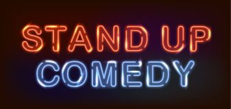 Stand up neon. royalty free illustration
