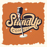 Stand Up Comedy Show Label Poster Sign Retro American Seventies Royalty Free Stock Photo