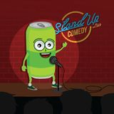 Stand up comedy soft drink open mic. Vector Royalty Free Stock Photos