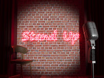 Stand-up comedy stage. High quality realistic render Royalty Free Stock Photos