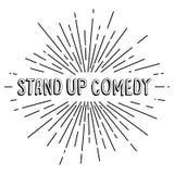 stand up comedy text show sunrays retro theme Stock Photos