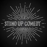 stand up comedy text show sunrays retro theme Stock Image