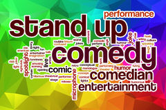 Stand up comedy word cloud with abstract background Stock Photo