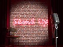 Stand-up komediestadium royalty-vrije illustratie