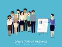 Stand-up meeting Royalty Free Stock Photo