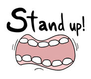 Stand up message Stock Photography