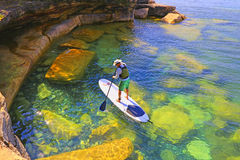 Stand Up Paddle Board Explorer Royalty Free Stock Photo