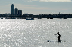 Stand Up Paddle boarding (SUP) - Recreation and Sport Royalty Free Stock Image