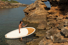 Stand Up Paddle Surf Stock Photography