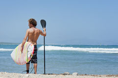 Stand Up Paddle Surf Stock Photo