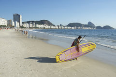 Stand Up Paddle Surfboard Copacabana Rio Brazil Stock Photo