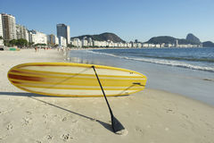Stand Up Paddle Surfboard Copacabana Rio Brazil Royalty Free Stock Image