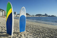 Stand Up Paddle Surfboards Copacabana Rio Brazil Stock Photos