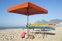 Stand Up Paddle Surfboards Ipanema Rio Brazil Stock Photography