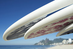 Stand Up Paddle Surfboards Ipanema Rio Brazil Stock Images