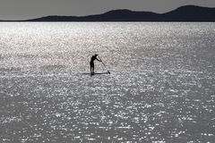 Stand up paddle surfers Royalty Free Stock Photos