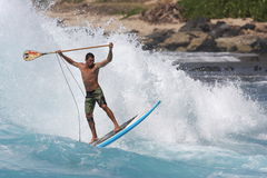Stand up paddle surfing Stock Images