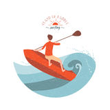 Stand Up Paddle Surfing Royalty Free Stock Photography