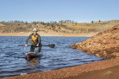 Stand up paddleboard on Horsetooth Reservoir Stock Photography