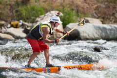 Stand up paddleboarder Stock Images