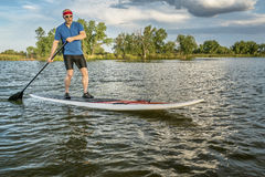 Stand up paddling in Colorado Stock Photos