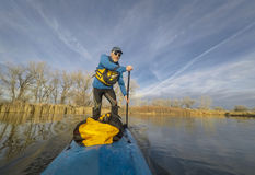 Stand up paddling in Colorado Royalty Free Stock Photography