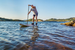 Stand up paddling in Colorado Royalty Free Stock Image