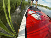 Stand up paddling detail Stock Photos