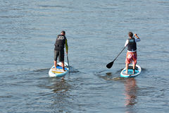 Stand Up Paddling Stock Photography