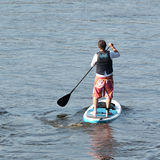 Stand Up Paddling Royalty Free Stock Photography