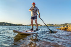 Stand up paddling (SUP) in Colorado Stock Photo