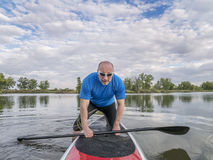 Stand up paddling - SUP Royalty Free Stock Photography