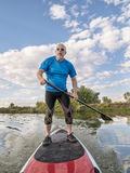 Stand up paddling - SUP Stock Image