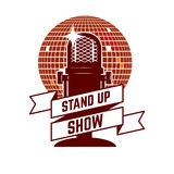 Stand up show emblem template. Stock Photos