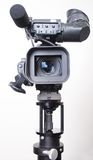 Stand video camera. Stand dv-cam camcorder in studio frontal view Stock Photo