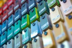 Stand von den Farbenproben, die Farbe wählen Stockfotografie