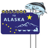 Stand Welcome to Alaska Royalty Free Stock Photography