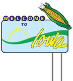 Stand Welcome to Iowa Stock Images