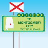 Stand Welcome to Montgomery City Stock Photos
