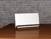 Free Stand With Blank Business Card Royalty Free Stock Photos - 14725828