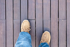 Stand on wood floor Stock Image