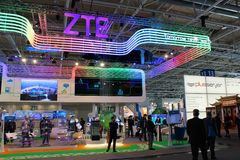 The stand of ZTE on March 20 Stock Photography