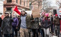 Stand zusammen - Student Protest - RPI - Troja, New York stockfotografie