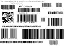 Standaard streepjescodes en verschepende streepjescode royalty-vrije illustratie