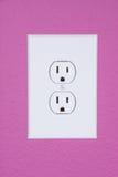 Standard 110 volt power outlet Stock Image